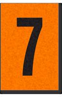 Engineer Grade Vinyl, 1 Inch Number, Black on Orange, 7
