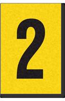 Engineer Grade Vinyl, 1 Inch Number, Black on Yellow, 2