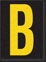Engineer Grade Vinyl, 1.5 Inch Letter, Yellow on Black B