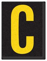 Engineer Grade Vinyl, 1.5 Inch Letter, Yellow on Black C