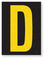 Engineer Grade Vinyl, 1.5 Inch Letter, Yellow on Black D