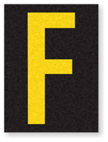 Engineer Grade Vinyl, 1.5 Inch Letter, Yellow on Black F
