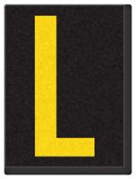 Engineer Grade Vinyl, 1.5 Inch Letter, Yellow on Black L