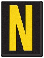 Engineer Grade Vinyl, 1.5 Inch Letter, Yellow on Black N