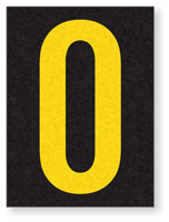 Engineer Grade Vinyl, 1.5 Inch Letter, Yellow on Black O