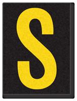 Engineer Grade Vinyl, 1.5 Inch Letter, Yellow on Black S