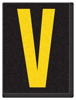 Engineer Grade Vinyl, 1.5 Inch Letter, Yellow on Black V