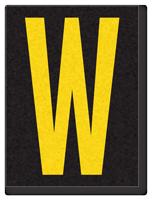 Engineer Grade Vinyl, 1.5 Inch Letter, Yellow on Black W