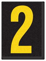 Engineer Grade Vinyl, 1.5 Inch Number, Yellow on Black 2