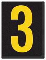 Engineer Grade Vinyl, 1.5 Inch Number, Yellow on Black 3