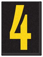 Engineer Grade Vinyl, 1.5 Inch Number, Yellow on Black 4