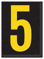 Engineer Grade Vinyl, 1.5 Inch Number, Yellow on Black 5