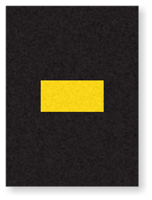 Engineer Grade Vinyl, 1.5 Inch, Yellow on Black, Dash