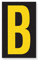 Engineer Grade Vinyl, 2.5 Inch Letter, Yellow on Black B