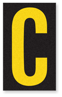 Engineer Grade Vinyl, 2.5 Inch Letter, Yellow on Black C