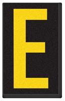 Engineer Grade Vinyl, 2.5 Inch Letter, Yellow on Black E