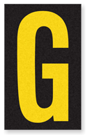 Engineer Grade Vinyl, 2.5 Inch Letter, Yellow on Black G
