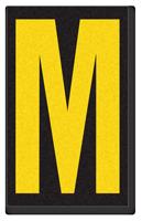 Engineer Grade Vinyl, 2.5 Inch Letter, Yellow on Black M