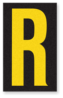 Engineer Grade Vinyl, 2.5 Inch Letter, Yellow on Black R