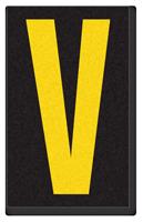 Engineer Grade Vinyl, 2.5 Inch Letter, Yellow on Black V