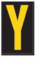 Engineer Grade Vinyl, 2.5 Inch Letter, Yellow on Black Y