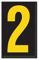 Engineer Grade Vinyl, 2.5 Inch Number, Yellow on Black 2