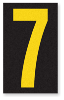 Engineer Grade Vinyl, 2.5 Inch Number, Yellow on Black 7