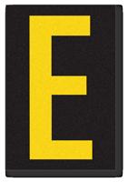 Engineer Grade Vinyl, 3.75 inch Letter, Yellow on Black, E