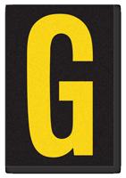 Engineer Grade Vinyl, 3.75 inch Letter, Yellow on Black, G