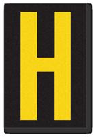 Engineer Grade Vinyl, 3.75 inch Letter, Yellow on Black, H