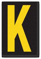 Engineer Grade Vinyl, 3.75 inch Letter, Yellow on Black, K