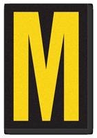 Engineer Grade Vinyl, 3.75 inch Letter, Yellow on Black, M