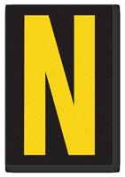 Engineer Grade Vinyl, 3.75 inch Letter, Yellow on Black, N