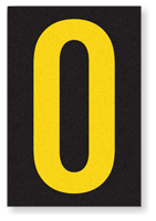 Engineer Grade Vinyl, 3.75 inch Letter, Yellow on Black, O