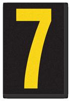 Engineer Grade Vinyl, 3.75 inch Number, Yellow on Black, 7