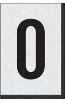 Engineer Grade Vinyl Numbers Letters Black on white 0