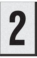 Engineer Grade Vinyl Numbers Letters Black on white 2