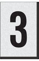 Engineer Grade Vinyl Numbers Letters Black on white 3