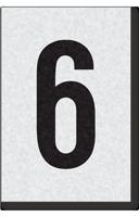 Engineer Grade Vinyl Numbers Letters Black on white 6