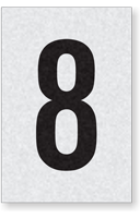 Engineer Grade Vinyl Numbers Letters Black on white 8