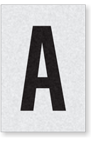 Engineer Grade Vinyl Numbers Letters Black on white A