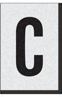 Engineer Grade Vinyl Numbers Letters Black on white C