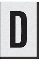 Engineer Grade Vinyl Numbers Letters Black on white D