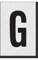 Engineer Grade Vinyl Numbers Letters Black on white G