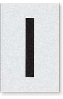 Engineer Grade Vinyl Numbers Letters Black on white I
