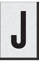 Engineer Grade Vinyl Numbers Letters Black on white J