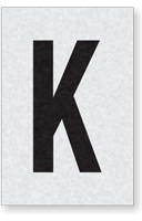 Engineer Grade Vinyl Numbers Letters Black on white K