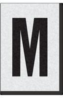 Engineer Grade Vinyl Numbers Letters Black on white M