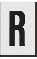 Engineer Grade Vinyl Numbers Letters Black on white R
