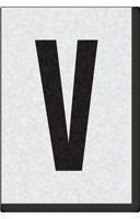 Engineer Grade Vinyl Numbers Letters Black on white V
